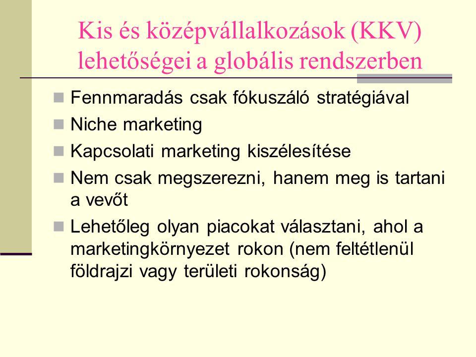 Kis és középvállalkozások (KKV) lehetőségei a globális rendszerben