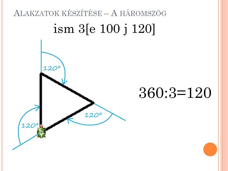 Alakzatok készítése – A háromszög