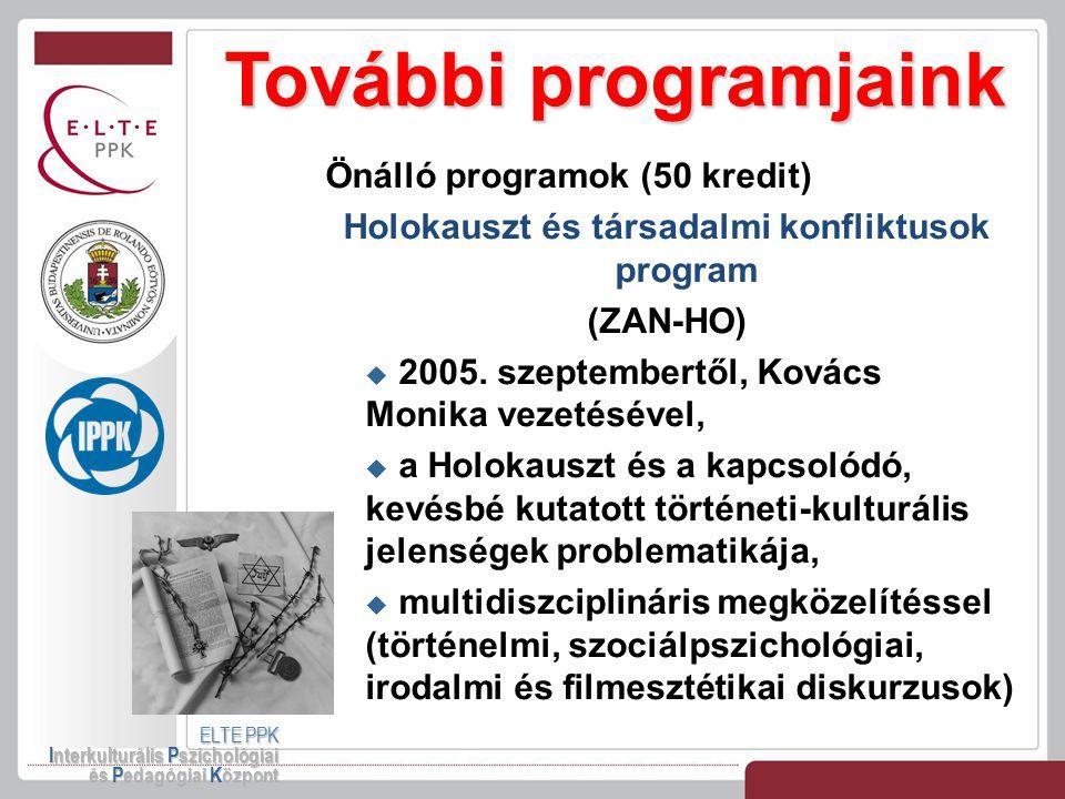 Holokauszt és társadalmi konfliktusok program
