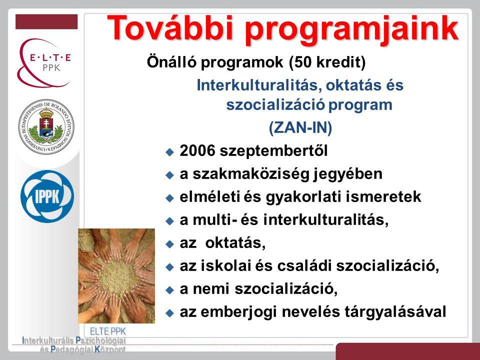 Interkulturalitás, oktatás és szocializáció program