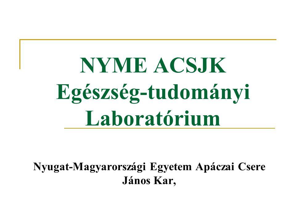 NYME ACSJK Egészség-tudományi Laboratórium