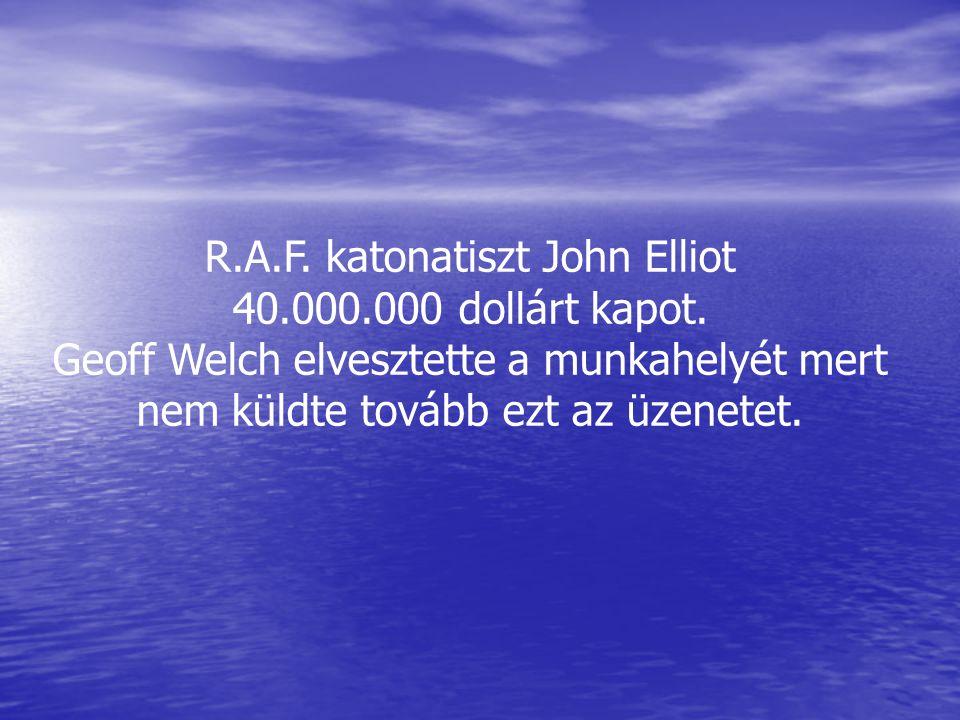 R.A.F. katonatiszt John Elliot