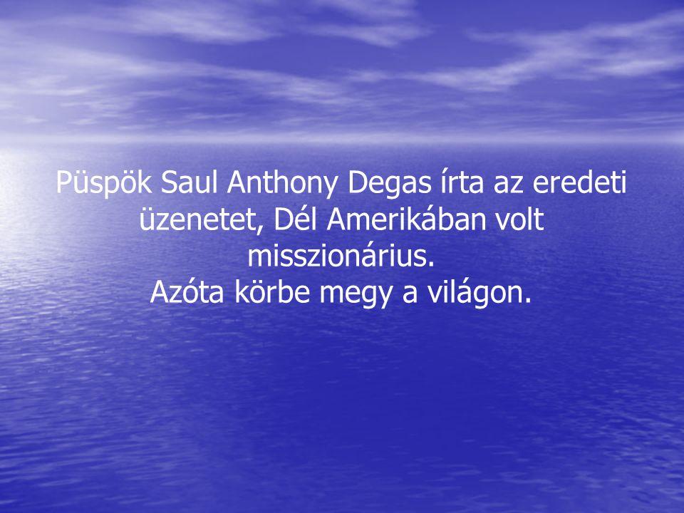 Püspök Saul Anthony Degas írta az eredeti