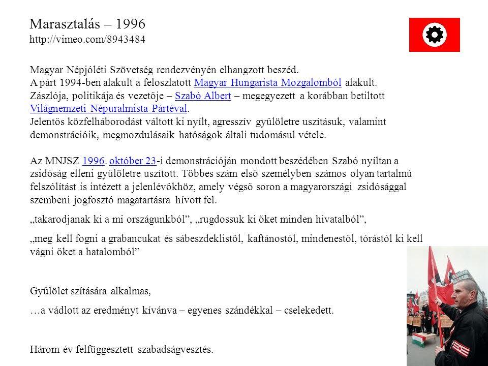 Marasztalás – 1996 http://vimeo.com/8943484