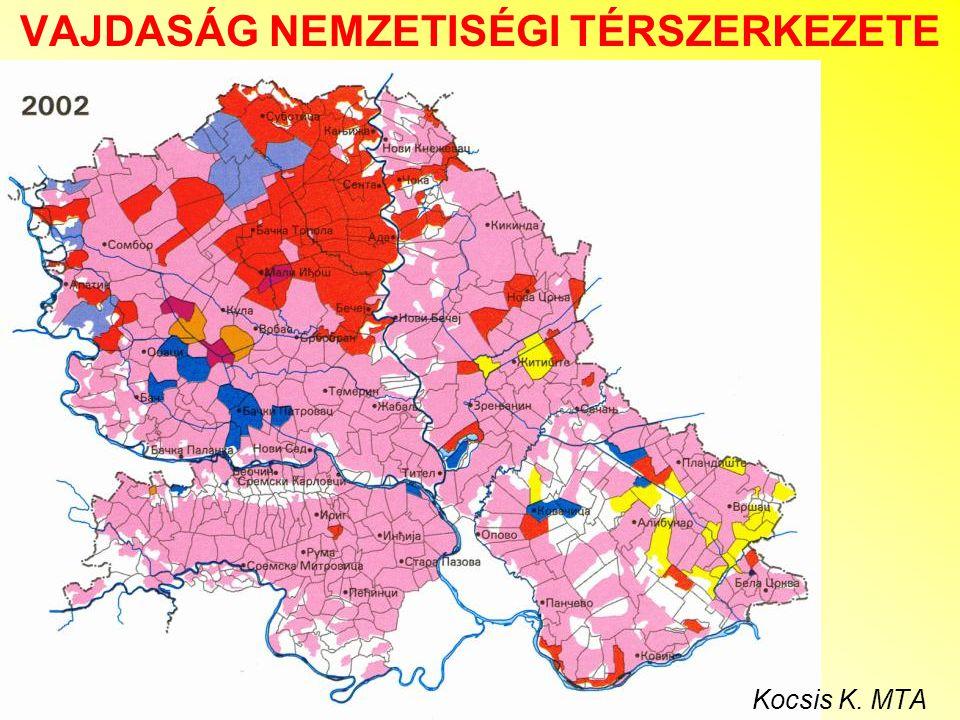 Vajdaság nemzetiségi térszerkezete