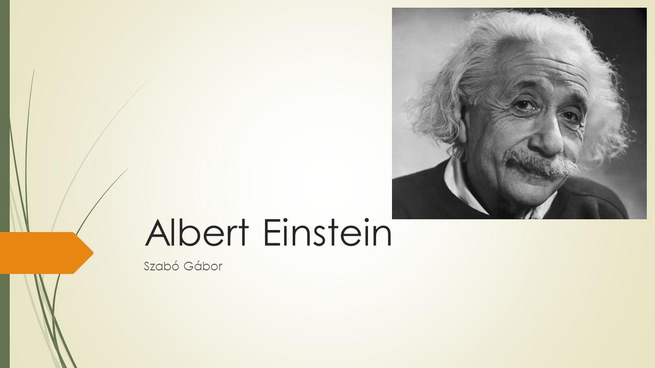 Albert Einstein Szabó Gábor