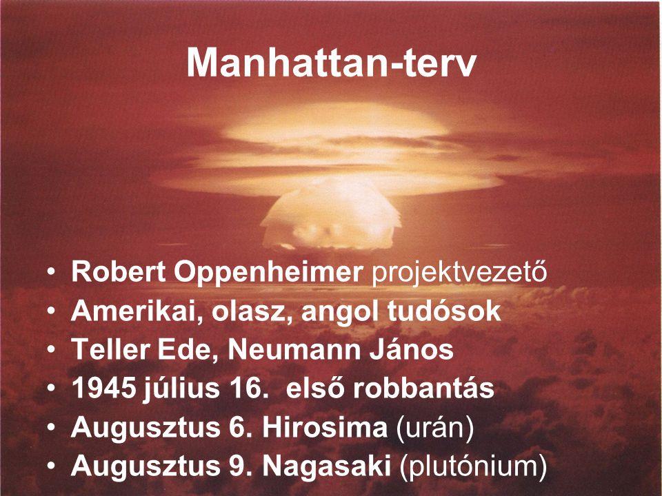 Manhattan-terv Robert Oppenheimer projektvezető