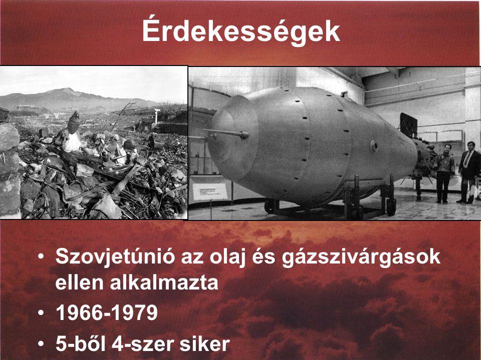 Érdekességek Szovjetúnió az olaj és gázszivárgások ellen alkalmazta