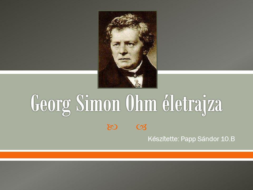 Georg Simon Ohm életrajza