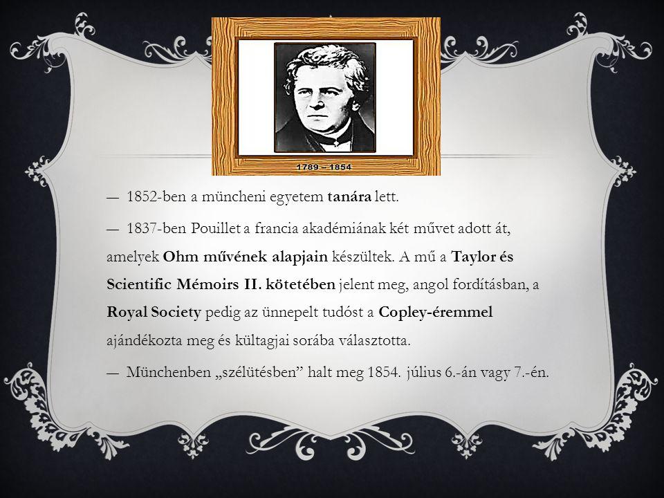 1852-ben a müncheni egyetem tanára lett.