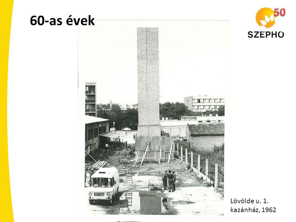 50 60-as évek Lövölde u. 1. kazánház, 1962