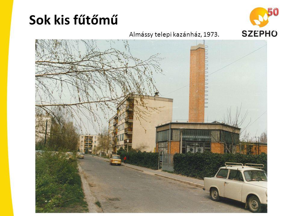 50 Sok kis fűtőmű Almássy telepi kazánház, 1973.