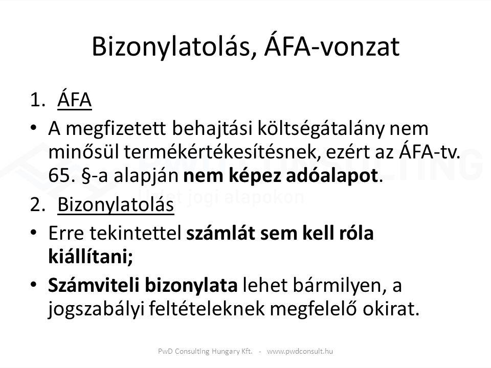 Bizonylatolás, ÁFA-vonzat