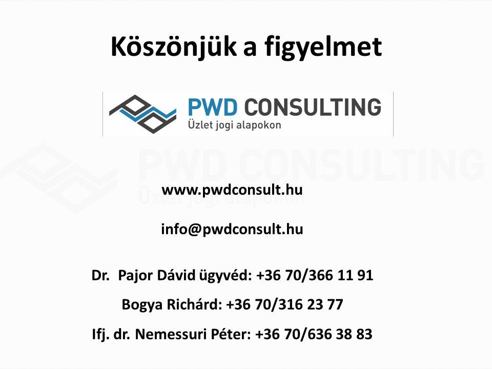 Köszönjük a figyelmet www.pwdconsult.hu info@pwdconsult.hu