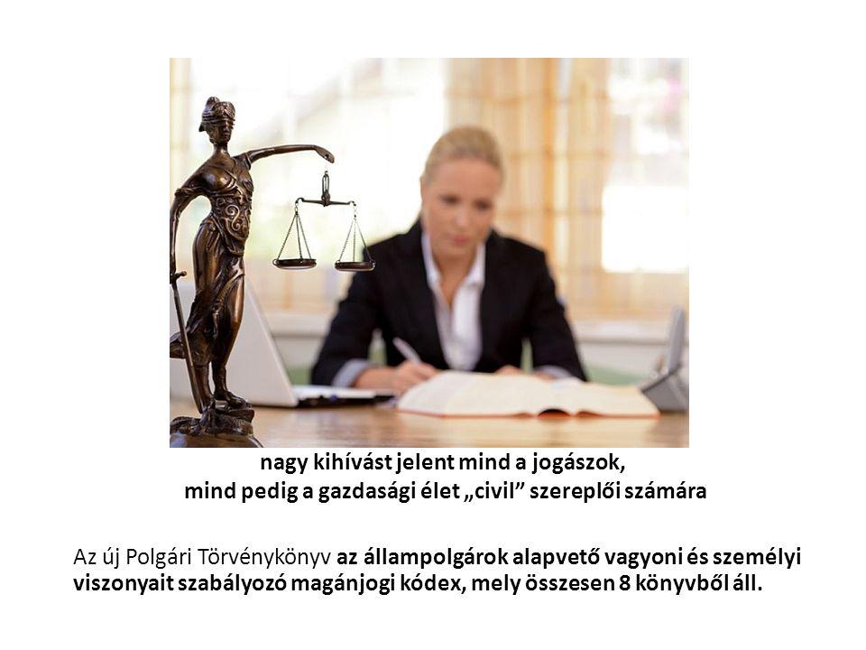 """nagy kihívást jelent mind a jogászok, mind pedig a gazdasági élet """"civil szereplői számára"""