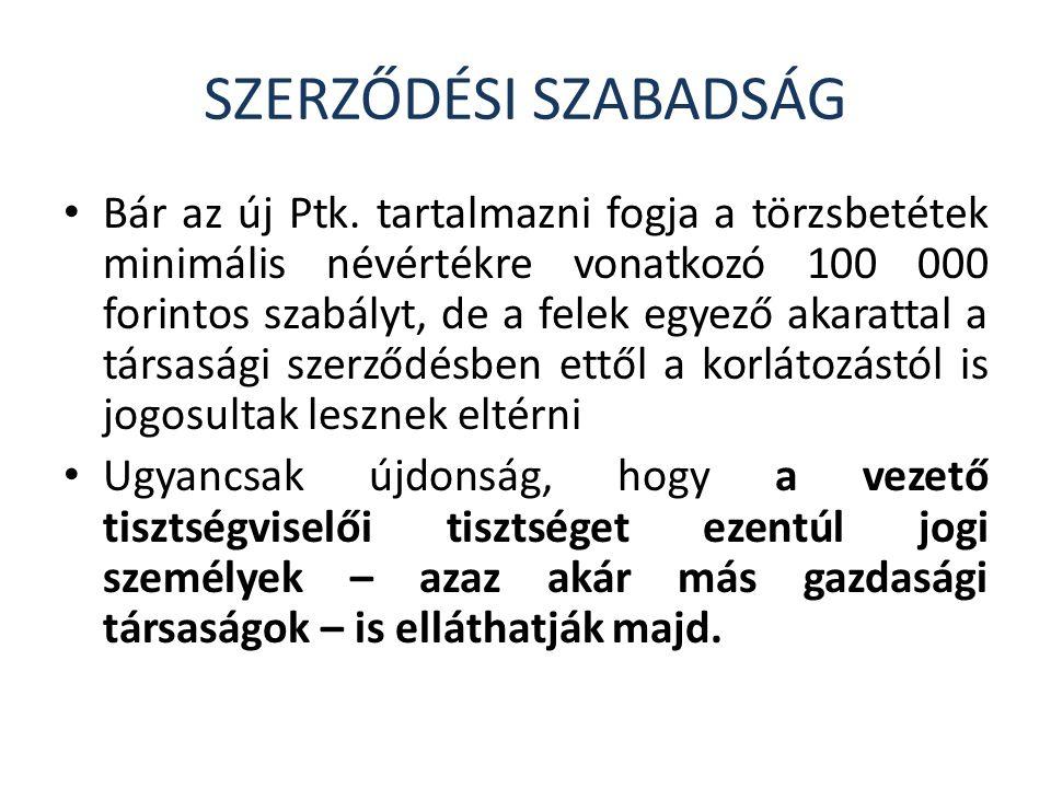 SZERZŐDÉSI SZABADSÁG