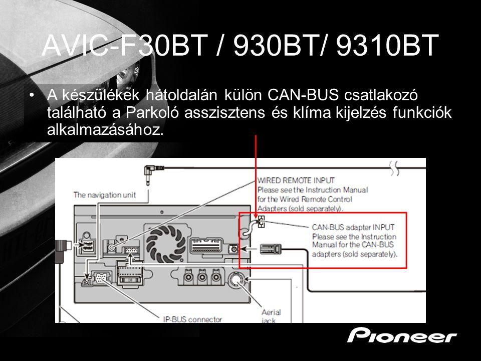 AVIC-F30BT / 930BT/ 9310BT