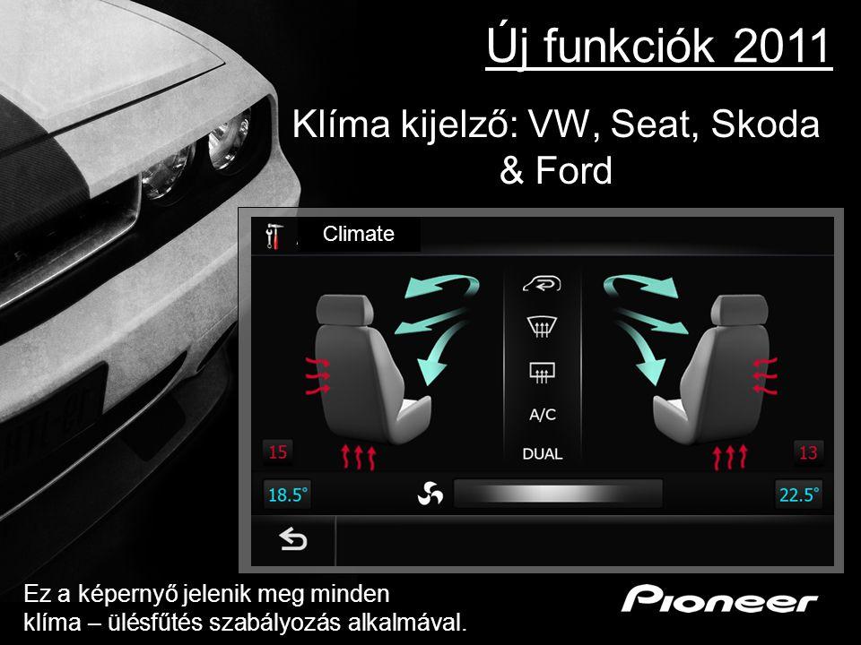 Klíma kijelző: VW, Seat, Skoda & Ford