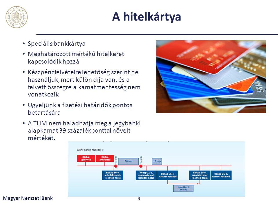 A hitelkártya Speciális bankkártya