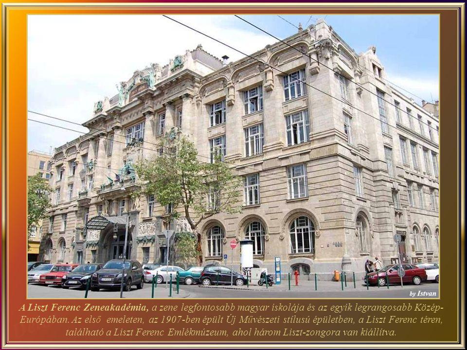 A Liszt Ferenc Zeneakadémia, a zene legfontosabb magyar iskolája és az egyik legrangosabb Közép-Európában.