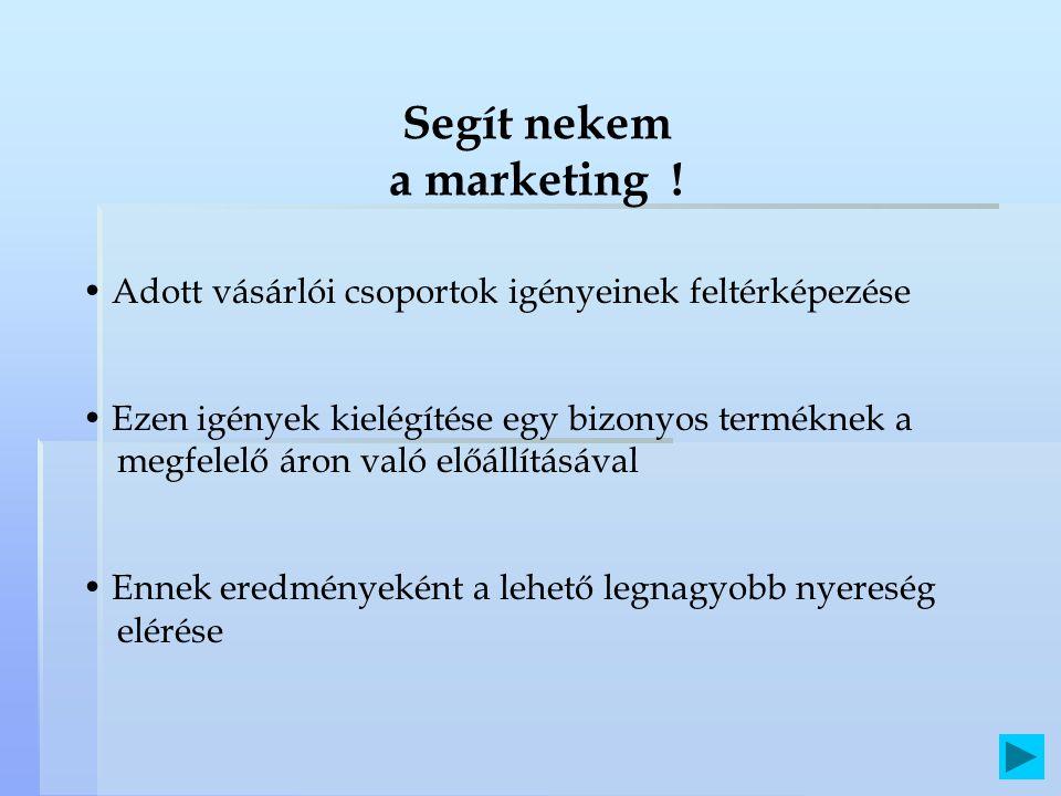 Segít nekem a marketing !