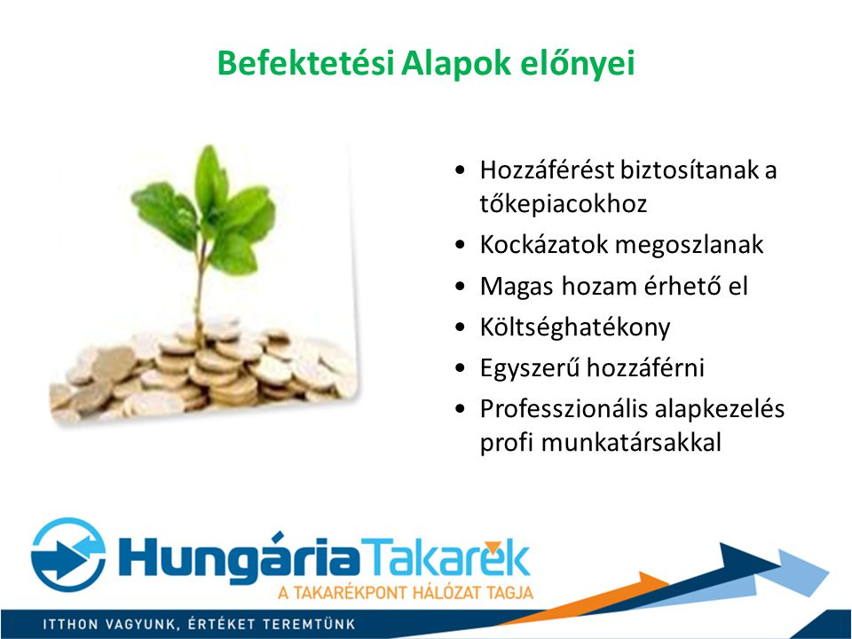 Befektetési Alapok előnyei