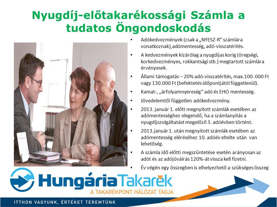Nyugdíj-előtakarékossági Számla a tudatos Öngondoskodás