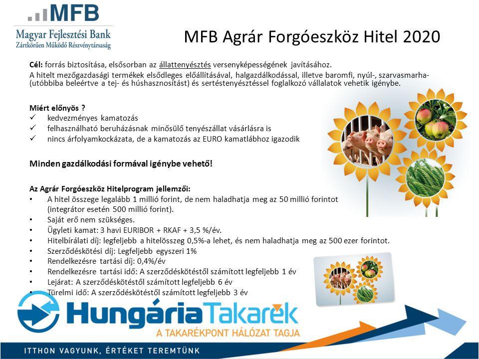 MFB Agrár Forgóeszköz Hitel 2020