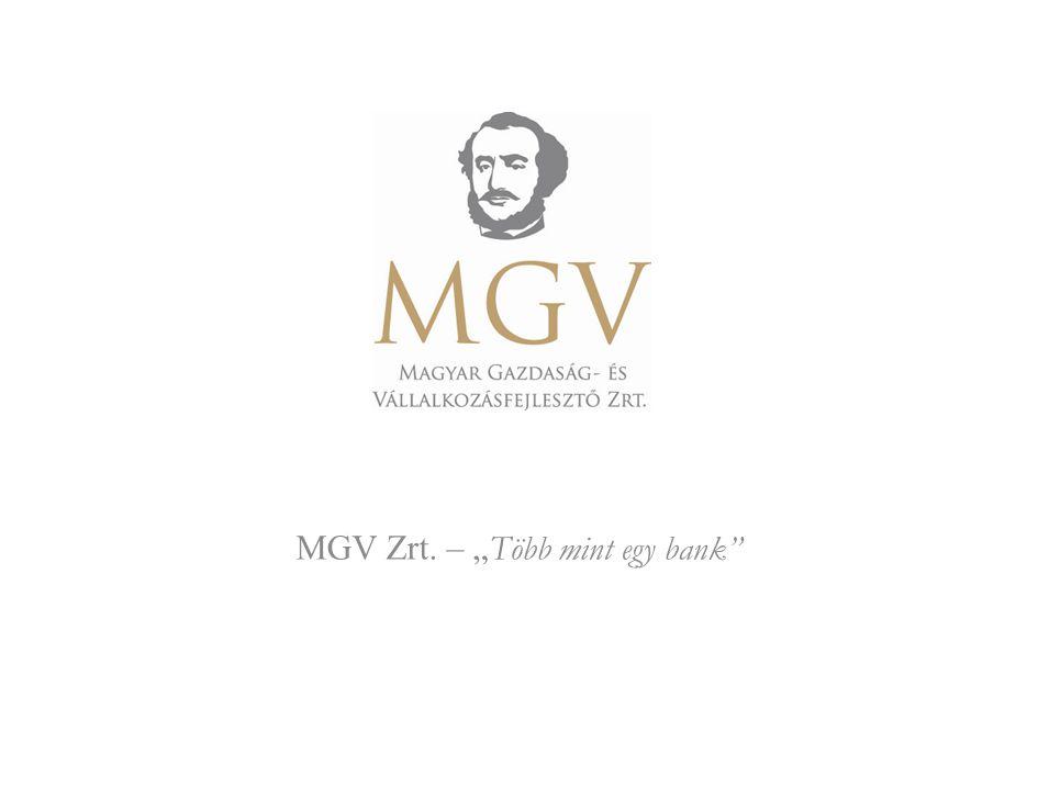 """MGV Zrt. – """"Több mint egy bank"""