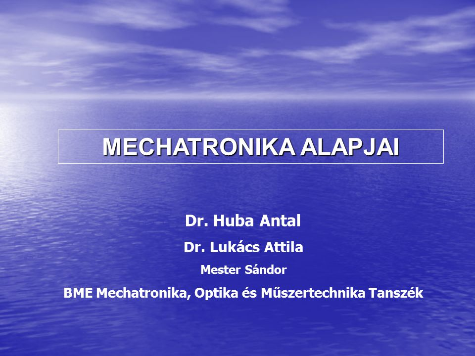 BME Mechatronika, Optika és Műszertechnika Tanszék