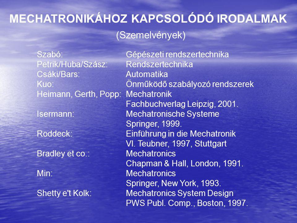 MECHATRONIKÁHOZ KAPCSOLÓDÓ IRODALMAK