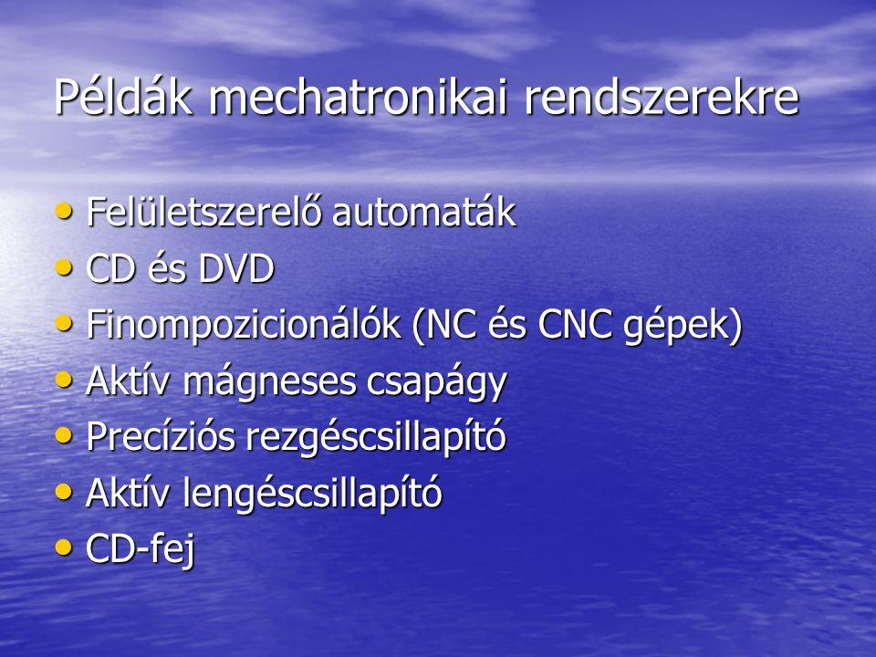 Példák mechatronikai rendszerekre