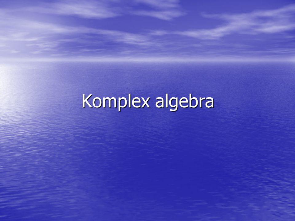 Komplex algebra