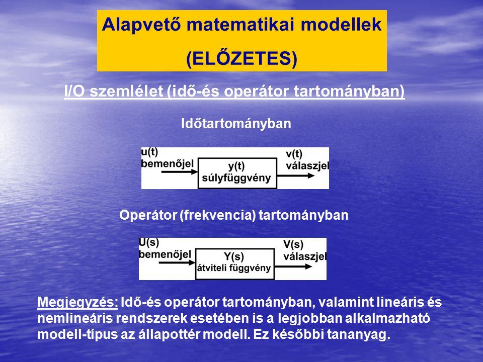 Alapvető matematikai modellek (ELŐZETES)
