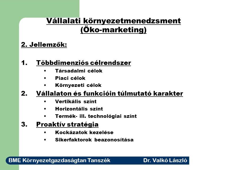 Vállalati környezetmenedzsment (Öko-marketing)