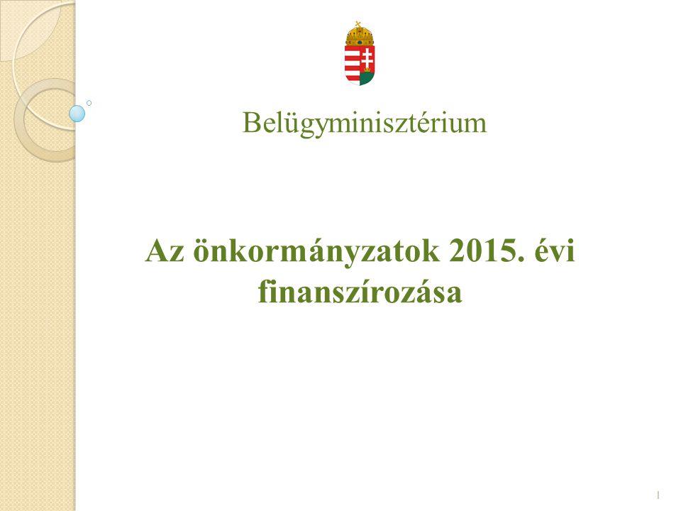 Az önkormányzatok 2015. évi finanszírozása