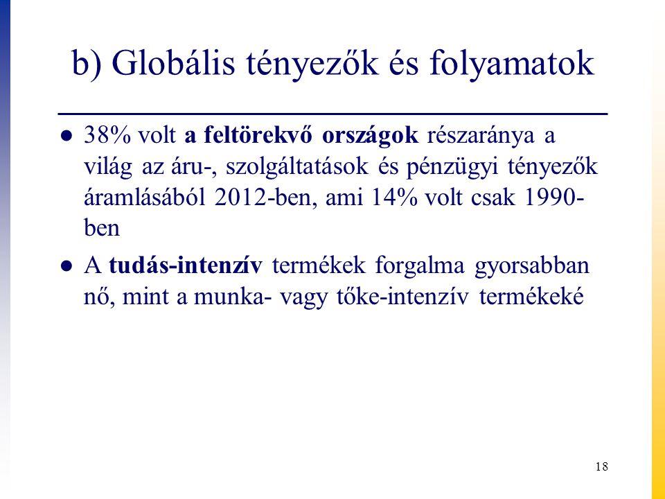 b) Globális tényezők és folyamatok