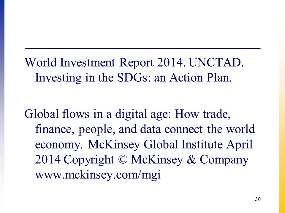 World Investment Report 2014. UNCTAD
