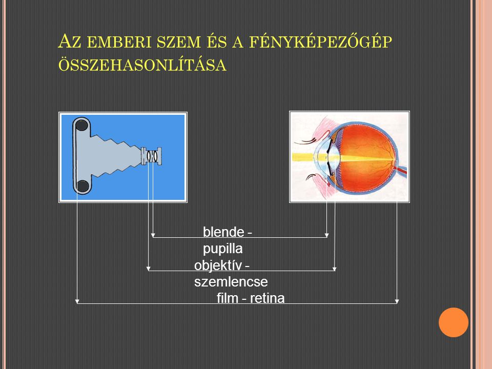 Az emberi szem és a fényképezőgép összehasonlítása