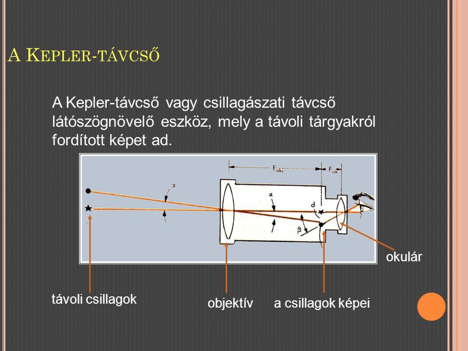 A Kepler-távcső A Kepler-távcső vagy csillagászati távcső látószögnövelő eszköz, mely a távoli tárgyakról fordított képet ad.