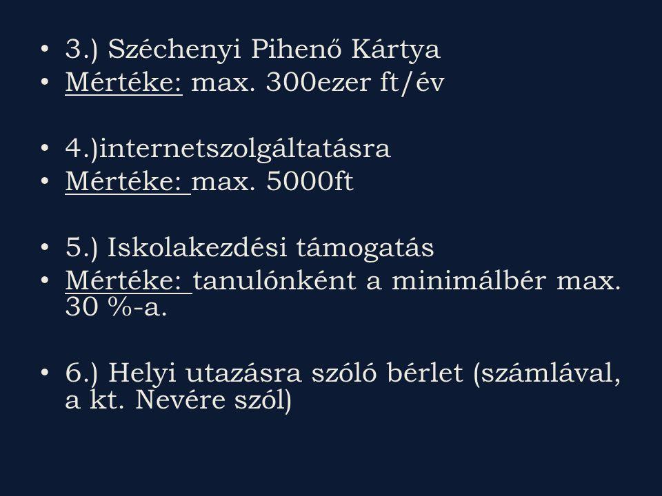 3.) Széchenyi Pihenő Kártya