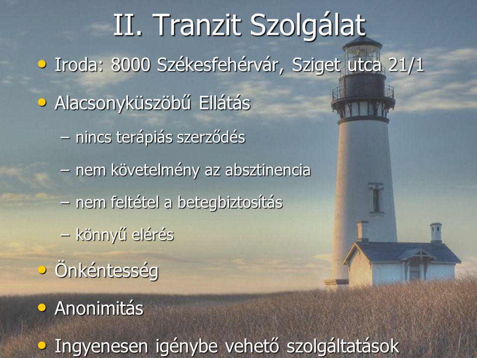 II. Tranzit Szolgálat Iroda: 8000 Székesfehérvár, Sziget utca 21/1
