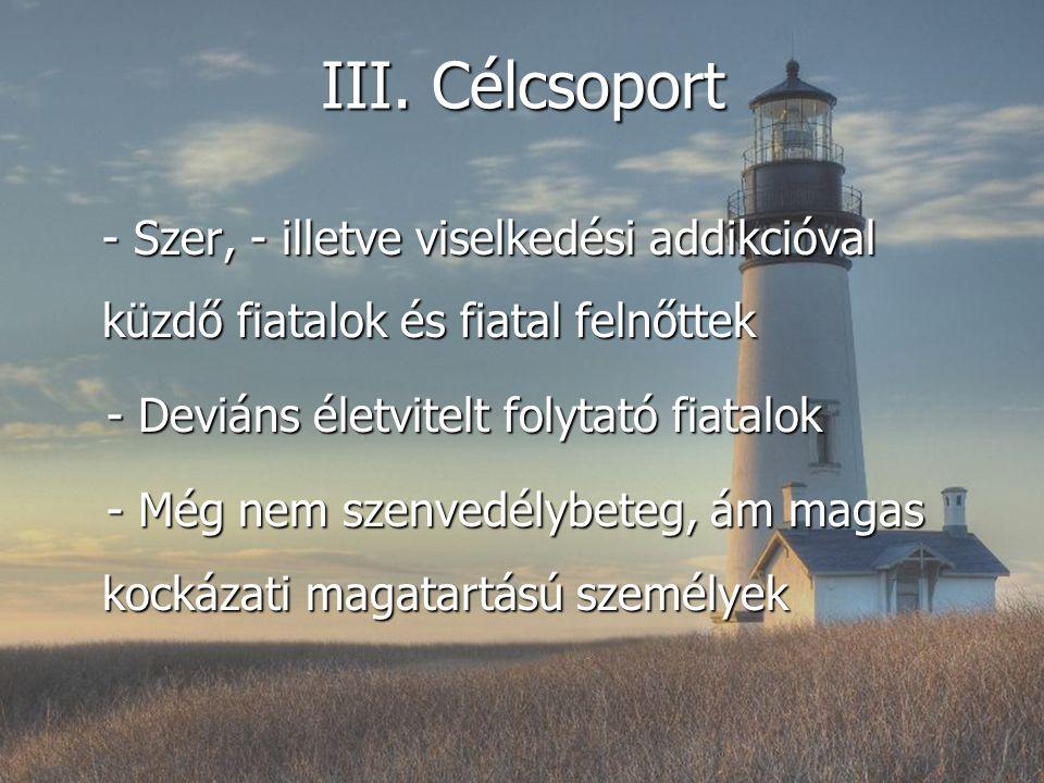 III. Célcsoport