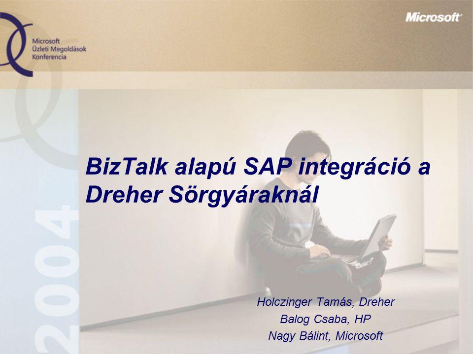 BizTalk alapú SAP integráció a Dreher Sörgyáraknál