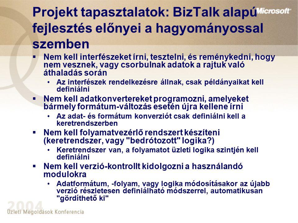 Projekt tapasztalatok: BizTalk alapú fejlesztés előnyei a hagyományossal szemben