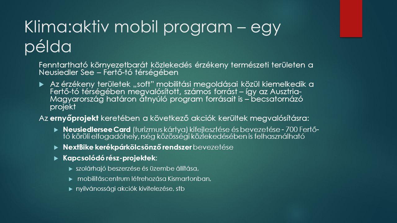 Klima:aktiv mobil program – egy példa