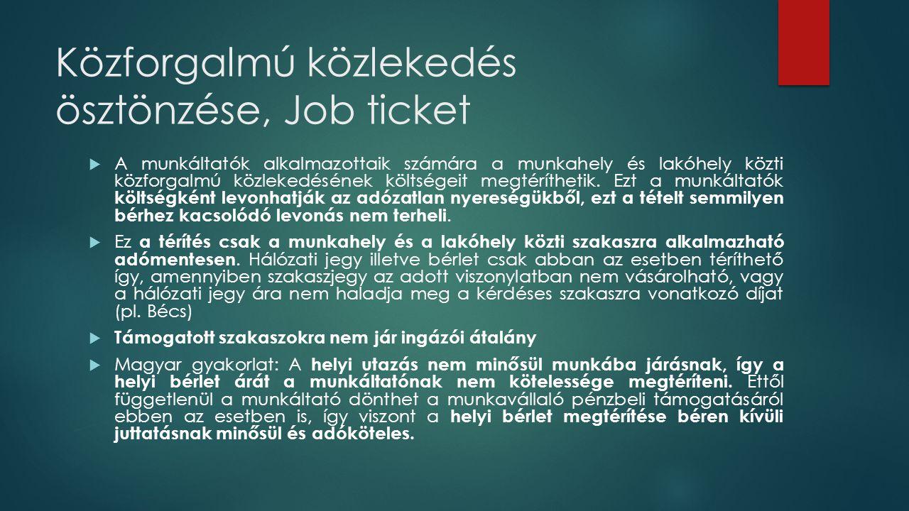Közforgalmú közlekedés ösztönzése, Job ticket
