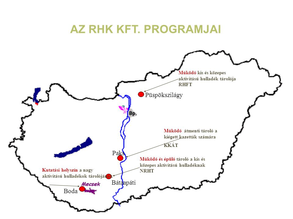 Az RHK Kft. programjai Püspökszilágy Paks Bátaapáti Boda