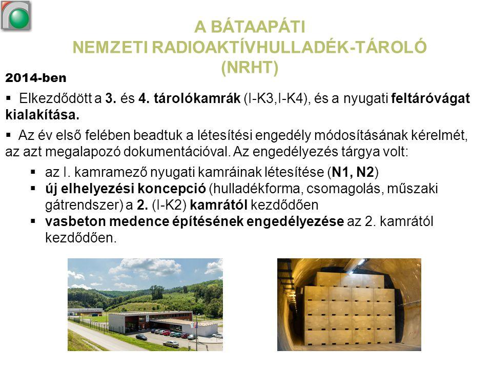 A BÁTAAPÁTI NEMZETI RADIOAKTÍVHULLADÉK-TÁROLÓ (NRHT)