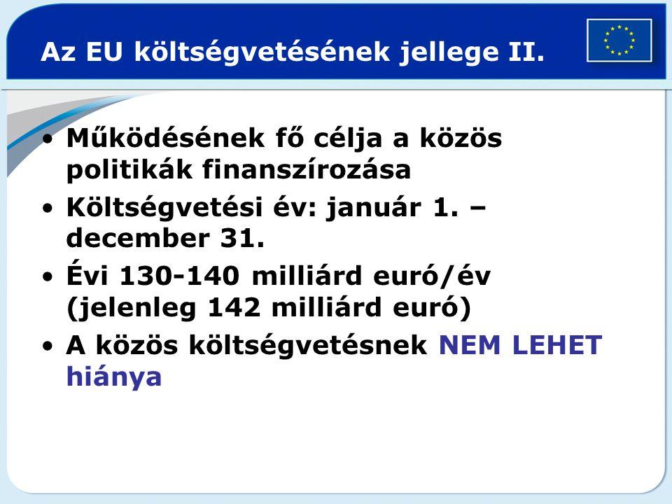 Az EU költségvetésének jellege II.